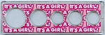 Snap Together Coin Holder It's A Girl! - 5 Coin