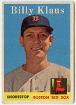1958 Topps #89 Billy Klaus, Boston Red Sox VG+