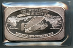 The Twelve-Second Conquest at Kitty Hawk 1 oz. .999 fine silver bar.