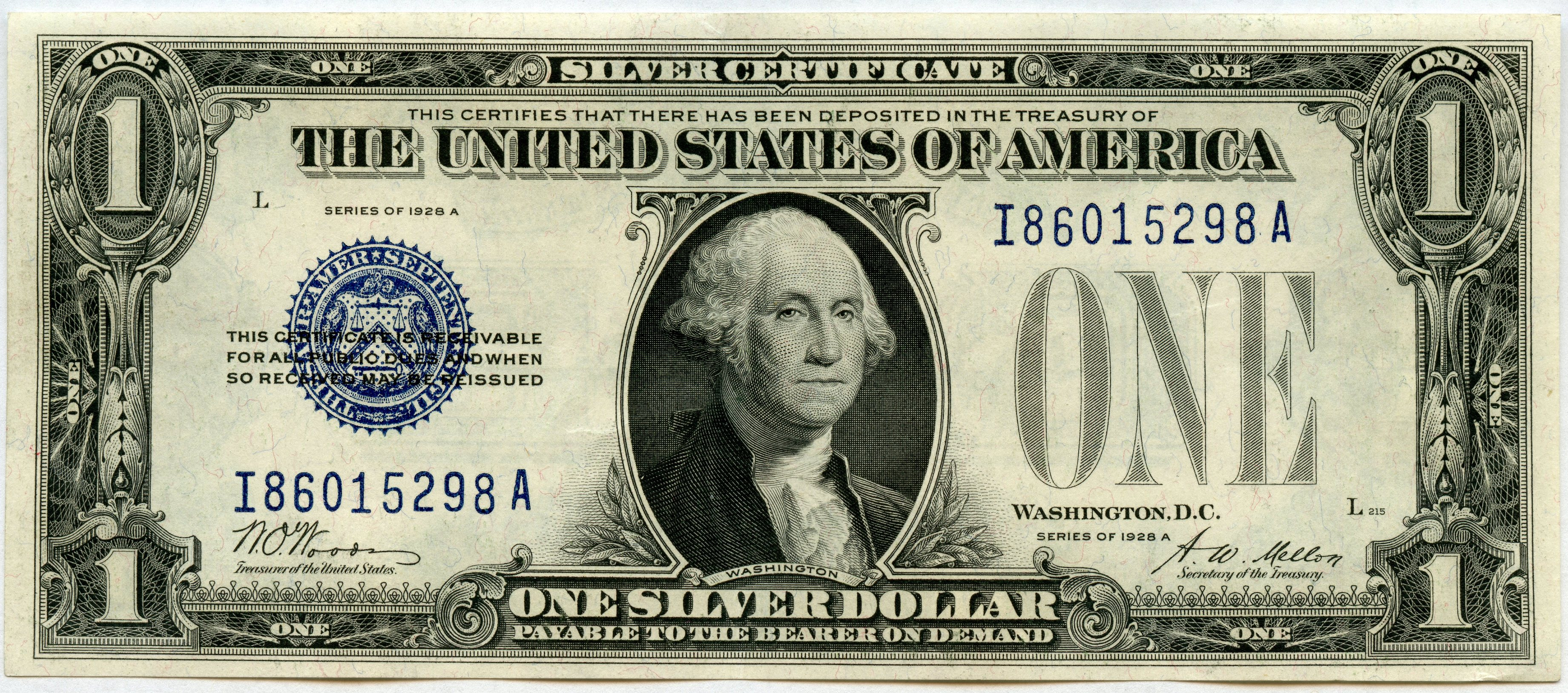 silver certificate series 1928 jakesmp currency