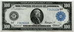 $100.00 Federal Reserve Note Series 1914 Blue Seal - F363622A, F1104, ChCU64