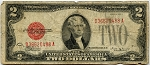 $2.00 U.S. Note (Legal Tender) 1928E, D36620488A, F1506, VG