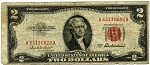 $2.00 Legal Tender Series 1953 A - A53130823A, F1510 , Very Good