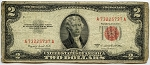 $2.00 U.S. Note (Legal Tender) 1953B - A73225737A, F1511, VG