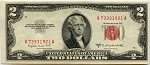 $2.00 U.S. Note (Legal Tender) 1953B - A73331921A, F1511, CU
