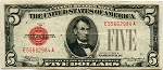 $5.00 U.S. Note (Legal Tender) 1928B D90626838A, F1527, VF