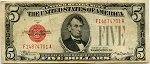 1928C Five Dollar U.S. Note (Legal Tender) - F14874701A, F1527, Fine