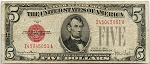 $5.00 U.S. Note (Legal Tender) Series 1928-F - I45045051A,F1531,VG