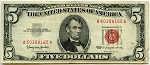 $5.00 U.S. Note (Legal Tender) 1963 - A60388165A, F1536, VF