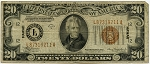$20.00 Federal Reserve Note 1934A - Hawaii - L87319211A, F2305, VG
