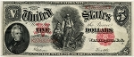 $5.00 U.S. Note (Legal Tender) Series 1907 - K27632990 ,F91, AU