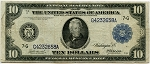 $10.00 Federal Reserve Note Series 1914 Blue Seal - G4232658A - Chicago, F928, VG
