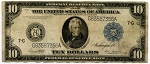 $10.00 Federal Reserve Note Series 1914 Blue Seal - G83587356A - Chicago, F931A, Fine