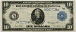$10.00 Federal Reserve Note Series 1914 Blue Seal - G80207034A - Chicago, F931B, Fine