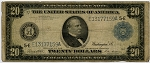 $20.00 Federal Reserve Note Series 1914 Blue Seal - E13177159A - Richmond, F983A, VG