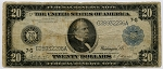 $20.00 Federal Reserve Note Series 1914 Blue Seal - G28932296A - Chicago, F990, Very Good