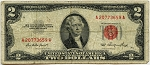 $2.00 U.S. Note (Legal Tender) 1953 - A20773659A, F1509, VG