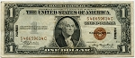 $1.00 Silver Certificate Series 1935-A - HAWAII - S48659614C, F2300, VF