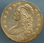 1834 Bust Half Dollar Choice XF-45