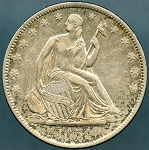 1859 O Liberty Seated Half Dollar AU-50