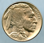 1937 D Buffalo Nickel Choice B.U. MS-65 +