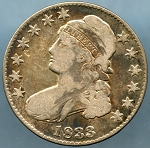 1833 Bust Half Dollar Very Good