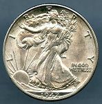 1942 D Walking Half Dollar  B.U. MS-60