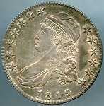 1819 Bust Half Dollar Choice AU-58