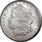 1887 S Morgan Dollar Choice B.U. MS-63