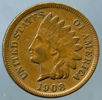 1908 S Indian Cent Choice XF-45