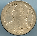 1832 Bust Half Dollar Very Good