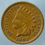 1908 S Indian Cent XF-40