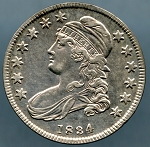 1834 Bust Half Dollar Choice XF-45 Cleaned