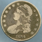 1834 Bust Half Dollar Very Good