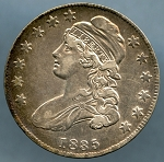 1835 Bust Half Dollar Choice XF-45