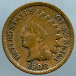 1908 S Indian Cent Fine