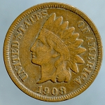 1908 S Indian Cent VF-20