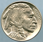 1936 Buffalo Nickel Choice B.U. MS-63