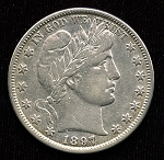 1897 Barber Half Dollar XF-40 Cleaned