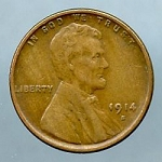 1914 S Lincoln Cent XF-40