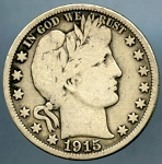 1915 Barber Half Dollar Very Good +