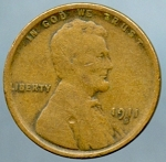 1911 S Lincoln Cent Very Good