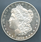 1879 S Morgan Dollar Choice B.U. MS-63 DMPL