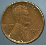 1912 S Lincoln Cent Choice VF-35- Light corrosion obv.