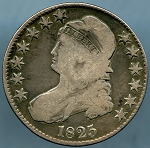 1825 Bust Half Dollar Very Good