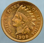 1909 Indian Cent Choice MS-63 +