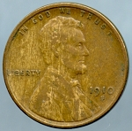 1910 S Lincoln Cent VF-35