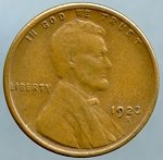 1923 S Lincoln Cent Choice XF-45