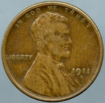 1911 S Lincoln Cent VF-20