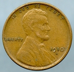 1910 S Lincoln Cent XF-40